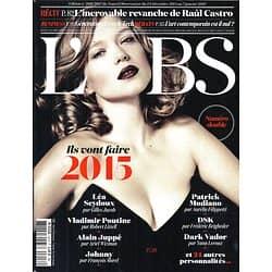 L'OBS N°2616&2617 24 DECEMBRE 2014  ILS VONT FAIRE 2015: SEYDOUX/ POUTINE/ HALLYDAY../ CASTRO/ MAGNUM