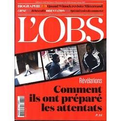 L'OBS N°2625 26 FEVRIER 2015  ATTENTATS/ MITTERRAND/ ECOLES DE COMMERCE/ JUMEAUX