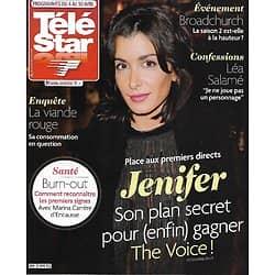 "TELE STAR n°2009 04/04/2015  Jenifer: bientôt la victoire?/ ""Broadchurch""/ Léa Salamé/ Dave/ Will Smith/ Gérard Philipe"