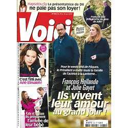 VOICI n°1431 10/04/2015  Hollande & Julie Gayet/ Virginie Ledoyen/ Kate Middleton/ Hapsatou Sy/ Gwyneth Paltrow