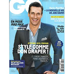 GQ n°88 juin 2015  Jon Hamm/ Portfolio Pirelli/ CERN/ PSG VIP/ Guerre des chefs