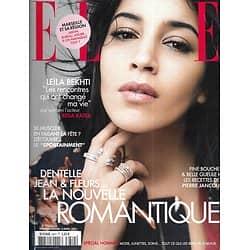 ELLE n°3614 03/04/2015  Leïla Bekhti par Reda Kateb/ Cuba/ Mode romantique/ Pierre Jancou/ Beate Klarsfeld