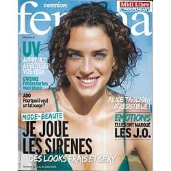 VERSION FEMINA n°537 14/07/2012  Mode-Beauté Sirène/ Alice Taglioni/ Parc du Mercantour/ J.O.