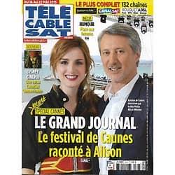 """Télé Cable Sat n°1306 16/05/2015  Spécial Cannes: Le festival de Caunes raconté à Alison Wheeler/ """"Vikings""""/ """"The Island"""""""
