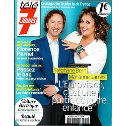 TELE 7 JOURS N°2866 2 MAI 2015  BERN & JAMES/ PERNEL/ GREY'S ANATOMY/ CABREL/ CORNILLAC/ DAVE