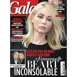 GALA n°1163 23/09/2015  Emmanuelle Béart: adieu à Guy, son père/ Paul Marciano/ Johnny Depp/ Jeans/ Montebourg & Filippetti