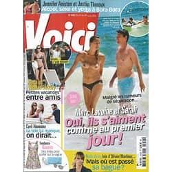 VOICI N°1450 21 AOUT 2015  LES LAVOINE/ BRUNI&SARKOZY/ HANOUNA/ BERRY/ ANISTON&THEROUX