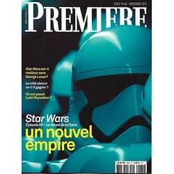 "PREMIERE n°465 novembre 2015  Spécial ""Star Wars""/ Natalie Portman/ Kurt Cobain/ Karin Viard/ Malick"