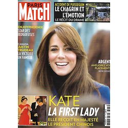 PARIS MATCH n°3467 29/10/2015  Kate Middleton/ Accident de Puisseguin/ Justin Trudeau/ Madagascar