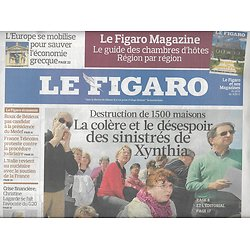 LE FIGARO N°20432 10 AVRIL 2010  TEMPETE XYNTHIA/ DINOSAURES/ SAVOIE-NICE/ GUERRE PROMOTIONS