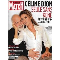 PARIS MATCH n°3479 18/01/2016  Céline Dion & René Angelil, histoire d'un amour fou/ La Patagonie par Salgado/ Joann Sfar/ Tommy Hilfiger