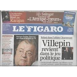 LE FIGARO N°20371 29 JANVIER 2010 FRECHE/ SALINGER/ VILLEPIN/ OBAMA/ AUSTERITE