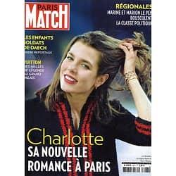 PARIS MATCH n°3473 10/12/2015  Charlotte Casiraghi/ Régionales/ Angelina Jolie/ Star Wars