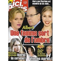 """ICI PARIS n°3612 24/09/2014  Albert de Monaco/ Mathilde Seigner/ Macha Méril & Michel Legrand/ Jean-Pierre Foucault/ """"Origines"""" la série"""