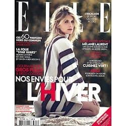 ELLE n°3648 27/11/2015  Mélanie Laurent/ Spécial Green/ Star Wars/ Adele/ Parfums/ Envies d'hiver