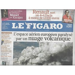 LE FIGARO N°20437 16 AVRIL 2010 NUAGE VOLCANIQUE/ LES JUSTES/ AVATAR/ LACKBERG