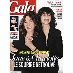 GALA n°1183 10/02/2016  Jane Birkin & Charlotte Gainsbourg/ Céline Dion/ George Clooney/ Spécial Saint-Valentin
