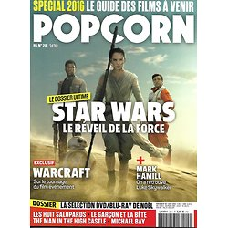 POPCORN n°20 décembre 2015 Star Wars/ Hamill/ Warcraft/ Huit salopards/ Superman