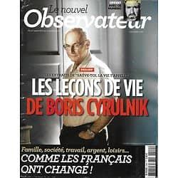LE NOUVEL OBSERVATEUR n°2499 27/09/2012 Leçons de vie de Boris Cyrulnik/ EDF/ Syrie/ Don Wislow/ Echenoz & Modiano/ Renoir