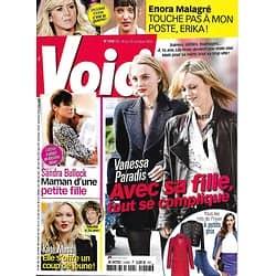 VOICI N°1458 16 OCTOBRE 2015  LILY-ROSE DEPP & PARADIS/ BULLOCK/ MOSS/ MALAGRE/ CARREY