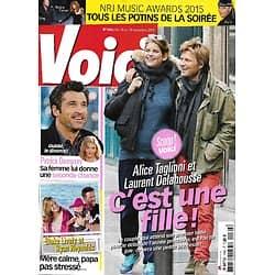 VOICI n°1462 13/11/2015 Laurent Delahousse & Alice Taglioni/ Patrick Dempsey/ Blake Lively &Ryan Reynolds/ NRJ Awards
