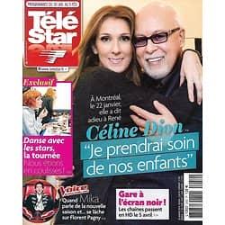 TELE STAR N°2052 30 JANVIER 2016  CELINE DION/ MIKA/ DANSE AVEC LES STARS/ BESSON