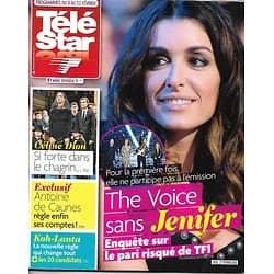 TELE STAR N°2053 6 FEVRIER 2016  JENIFER/ CELINE DION/ DE CAUNES/ KOH-LANTA/ COTILLARD