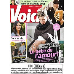 VOICI n°1475 12/02/2016  Alice Taglioni & Laurent Delahousse/ Benjamin Millepied/ Kim Kardashian/ Karine Ferri/ Céline Dion
