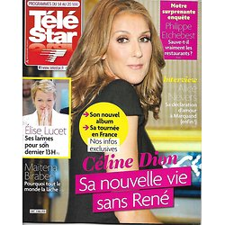 TELE STAR N°2067 14 MAI 2016  CELINE DION/ LUCET/ ETCHEBEST/ MONTAND/ DELTERME