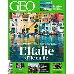 GEO n°448 juin 2016  L'Italie, d'île en île/ Le Japon tropical/ La Bretagne/ Espèces menacées