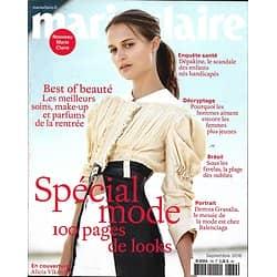 MARIE CLAIRE n°769 septembre 2016  Alicia Vikander/ Spécial mode/ Best of beauté/ Moix