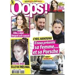 OOPS! N°209 22 JANVIER 2016 HANOUNA/ MISS FRANCE/ DION/ MIDDLETON/ LONGORIA