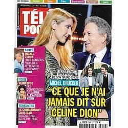 TELE POCHE n°2642 01/10/2016  Michel Drucker sur Céline dion/ Michel Cymes/ Jaimie Alexander/ Le commandant Cousteau