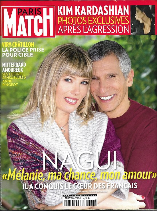 PARIS MATCH N°3517 13/10/2016  NAGUI/ KARDASHIAN/ MITTERRAND/ TCHERNIA/ FIRTH/ MIGRANTS