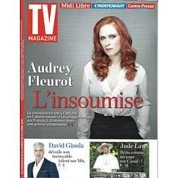 TV MAGAZINE N°22456 23 OCTOBRE 2016  AUDREY FLEUROT/ GINOLA/ JUDE LAW/ BONNEC&DRUCKER