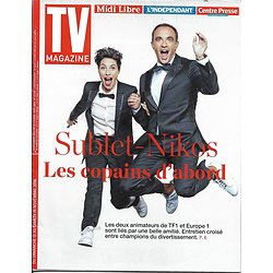 TV MAGAZINE N°22474 13 NOVEMBRE 2016  SUBLET & ALIAGAS/ ADJANI/ CHEVALIERS DU FIEL