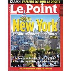 LE POINT n°1993 25/11/2010  Spécial New York/ Affaire Karachi/ Spécial Montagne/ Meilleurs livres de l'année