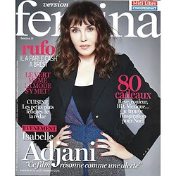 VERSION FEMINA N°764 21 NOVEMBRE 2016 ISABELLE ADJANI/ RUFO/ SPECIAL CADEAUX/ COLORATION