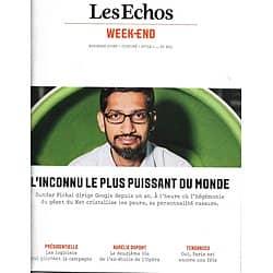 LES ECHOS WEEK-END n°43 02/09/2016 Pichai-Google/ Aurélie Dupont/ Hackett/ Spécial Paris/ Logiciels & Présidentielle
