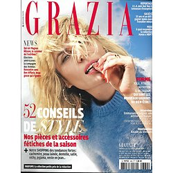 GRAZIA n°369 04/11/2016  EMMANUELLE SEIGNER/ AFFLECK/ MODE BABY DOLL/ LINGERIE