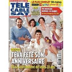 Télé Cable Sat n°1380 15/10/2016  Teva fête son anniversaire/ Lignac, Cordula & Cie et leurs 20 ans