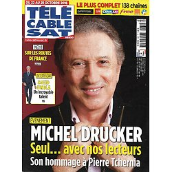 Télé Cable Sat n°1381 22/10/2016  Michel Drucker/ Jude Law/ Benedict Cumberbatch/ David Ginola