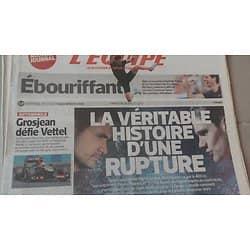L'EQUIPE N°21561 28 JUILLET 2013  YAGNEL VS PELLERIN/ MUFFAT/ LAVILLENIE/ PARKER/ GALLOPIN/ GROSJEAN/ GARDE