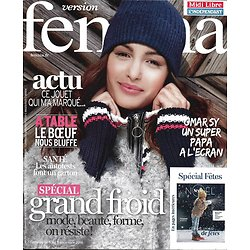 VERSION FEMINA N°766 05/12/2016  SPECIAL GRAND FROID/ OMAR SY/ A TABLE LE BOEUF