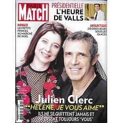 PARIS MATCH N°3525 08/12/2016  JULIEN CLERC/ VALLS/ VICTORIA'S SECRET/ ANTARCTIQUE