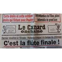 LE CANARD ENCHAINE N°5018 28 DECEMBRE 2016  C'EST LA FLUTE FINALE!