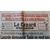 LE CANARD ENCHAINE N°5017 21 DECEMBRE 2016  LAGARDE DEMEURE ET TAPIE NE REND PAS