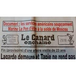 LE CANARD ENCHAINE n°5017 21/12/2016  LAGARDE DEMEURE ET TAPIE NE REND PAS