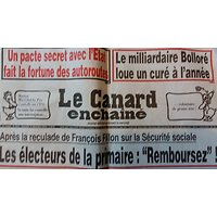 """LE CANARD ENCHAINE N°5016 14 DECEMBRE 2016  LES ELECTEURS DE LA PRIMAIRE """"REMBOURSEZ!"""""""