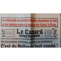 LE CANARD ENCHAINE N°5008 19 OCTOBRE 2016  C'EST DU HOLLANDE TOUT CRASHE!